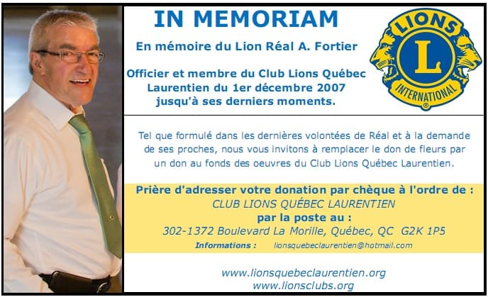 Carte de dons (Réal Fortier)